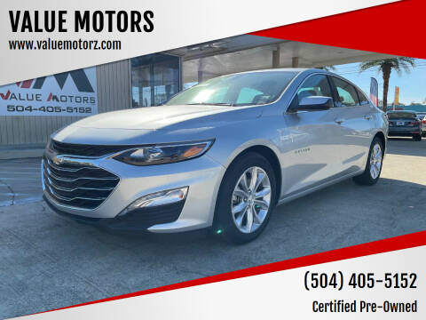 2020 Chevrolet Malibu for sale at VALUE MOTORS in Kenner LA
