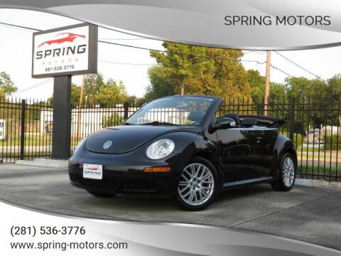 2007 Volkswagen New Beetle Convertible for sale at Spring Motors in Spring TX