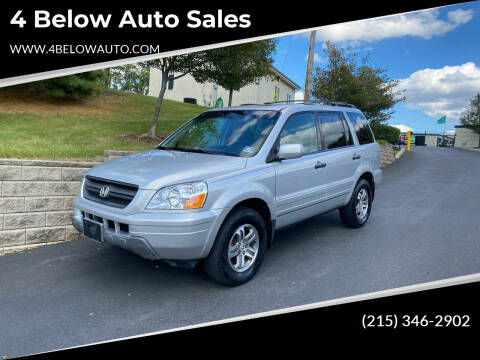 2005 Honda Pilot for sale at 4 Below Auto Sales in Willow Grove PA