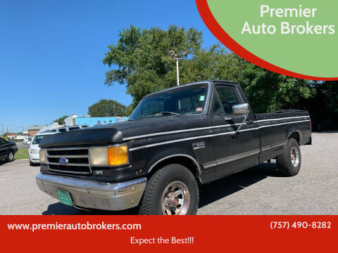1990 Ford F-150 for sale at Premier Auto Brokers in Virginia Beach VA