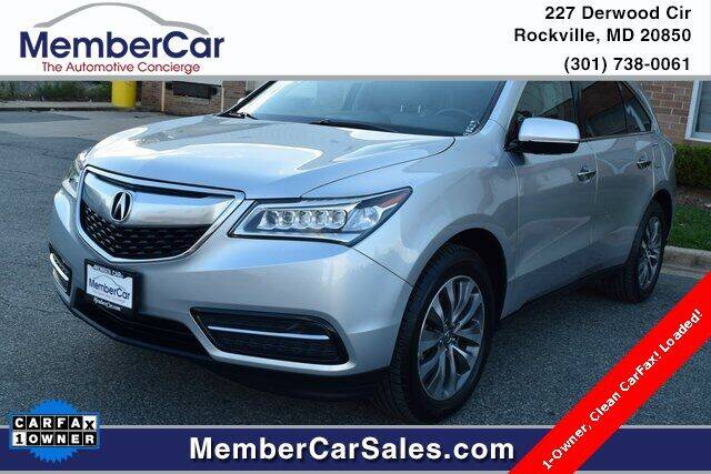 2014 Acura MDX for sale at MemberCar in Rockville MD