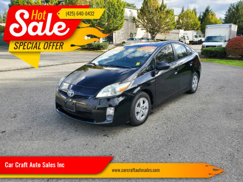 2011 Toyota Prius for sale at Car Craft Auto Sales Inc in Lynnwood WA