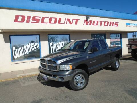 2003 Dodge Ram Pickup 2500 for sale at Discount Motors in Pueblo CO