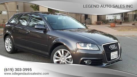 2012 Audi A3 for sale at Legend Auto Sales Inc in Lemon Grove CA