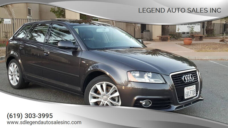 2012 Audi A3 for sale at Legend Auto Sales Inc in Lemon Grove CA