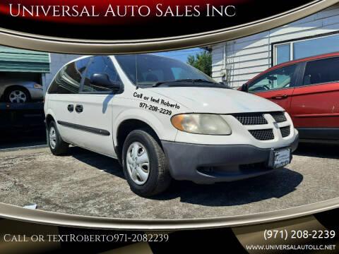 2002 Dodge Caravan for sale at Universal Auto Sales Inc in Salem OR