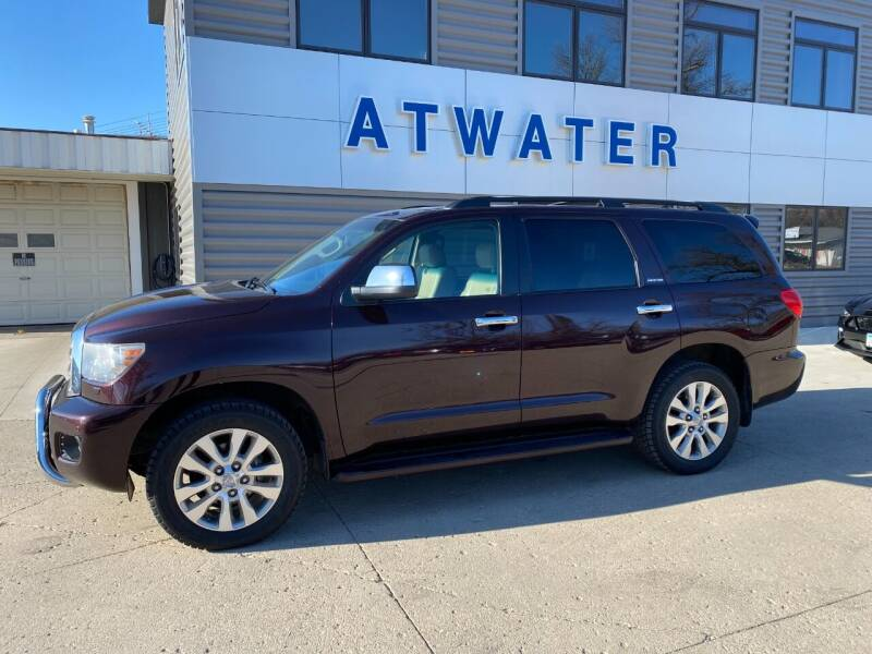 2013 Toyota Sequoia for sale at Atwater Ford Inc in Atwater MN