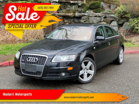 2008 Audi A6 for sale at Mudarri Motorsports in Kirkland WA