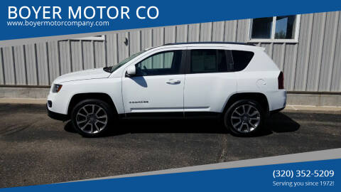 2014 Jeep Compass for sale at BOYER MOTOR CO in Sauk Centre MN
