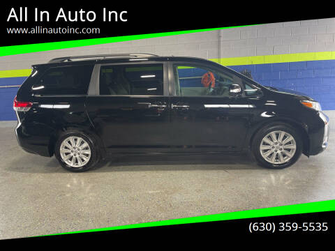 2013 Toyota Sienna for sale at All In Auto Inc in Addison IL