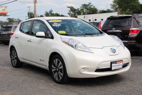 2017 Nissan LEAF for sale at MetroWest Auto Sales in Worcester MA