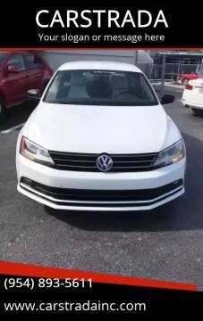 2016 Volkswagen Jetta for sale at CARSTRADA in Hollywood FL
