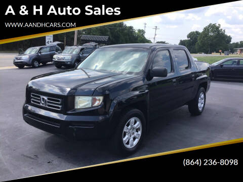 2006 Honda Ridgeline for sale at A & H Auto Sales in Greenville SC