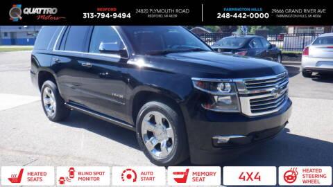2016 Chevrolet Tahoe for sale at Quattro Motors 2 - 1 in Redford MI