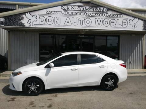 2014 Toyota Corolla for sale at Don Auto World in Houston TX