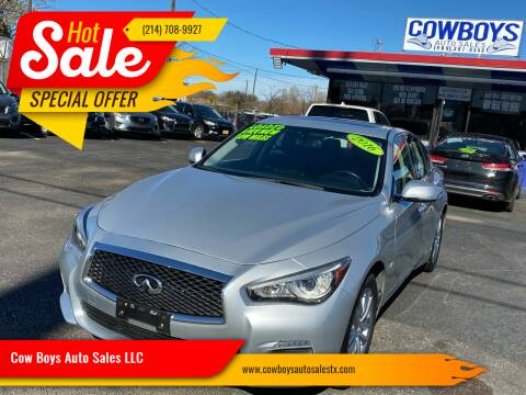 2016 Infiniti Q50 for sale at Cow Boys Auto Sales LLC in Garland TX