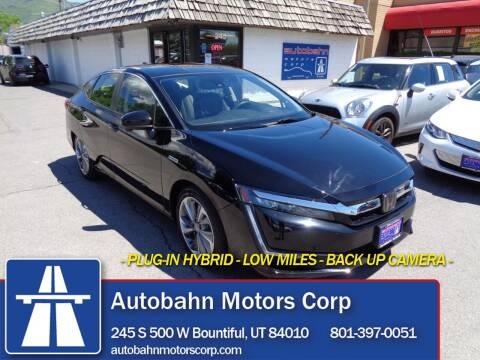 2018 Honda Clarity Plug-In Hybrid for sale at Autobahn Motors Corp in Bountiful UT