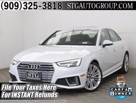 2019 Audi A4 for sale at STG Auto Group in Montclair CA