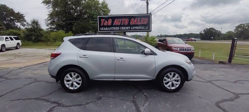 2012 Nissan Murano for sale at T & G Auto Sales in Florence AL