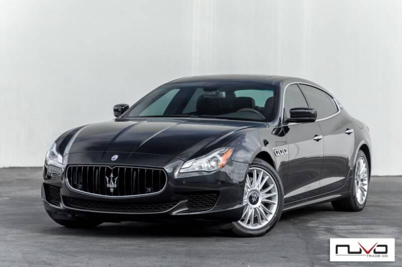 2014 Maserati Quattroporte for sale at Nuvo Trade in Newport Beach CA