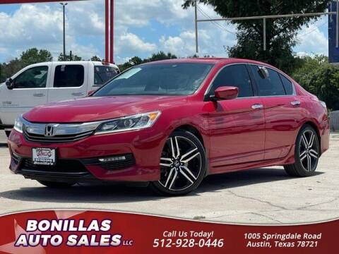 2017 Honda Accord for sale at Bonillas Auto Sales in Austin TX