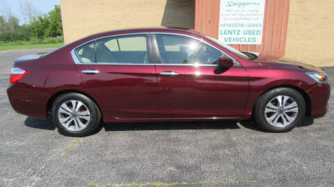 2013 Honda Accord for sale at LENTZ USED VEHICLES INC in Waldo WI