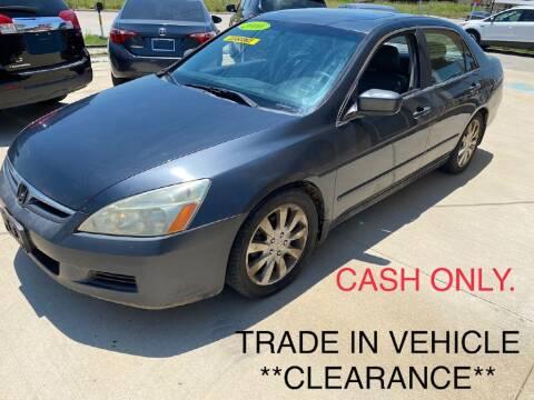 2006 Honda Accord for sale at Raj Motors Sales in Greenville TX