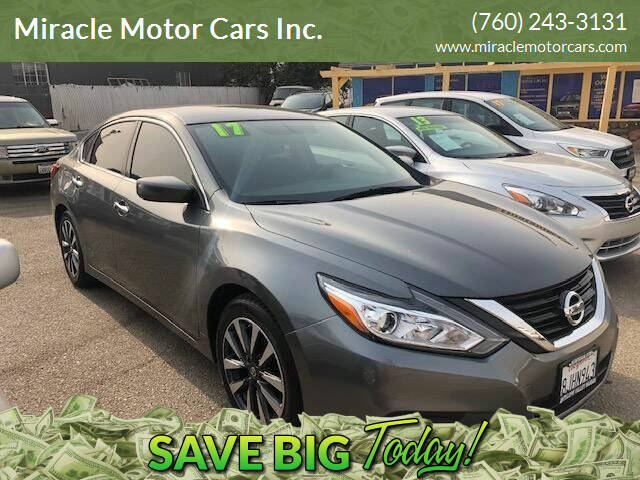 2017 Nissan Altima for sale at Miracle Motor Cars Inc. in Victorville CA
