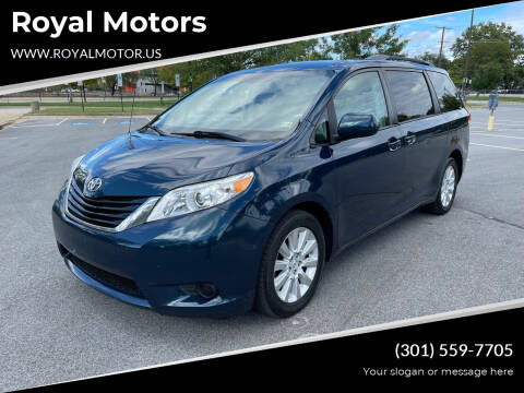2012 Toyota Sienna for sale at Royal Motors in Hyattsville MD