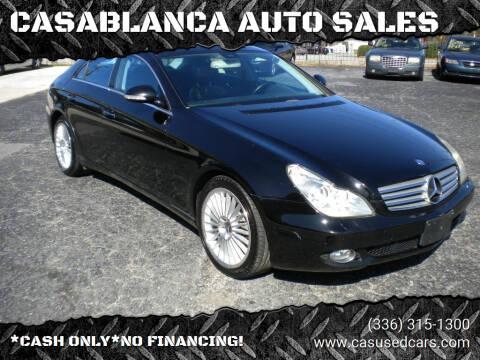2006 Mercedes-Benz CLS for sale at CASABLANCA AUTO SALES in Greensboro NC
