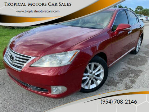 2010 Lexus ES 350 for sale at Tropical Motors Car Sales in Deerfield Beach FL