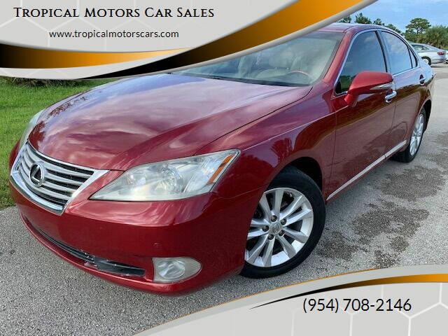 2010 Lexus ES 350 for sale at Tropical Motors Car Sales in Deerfield Beach FL