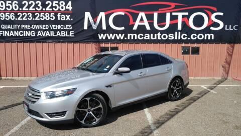 2015 Ford Taurus for sale at MC Autos LLC in Pharr TX