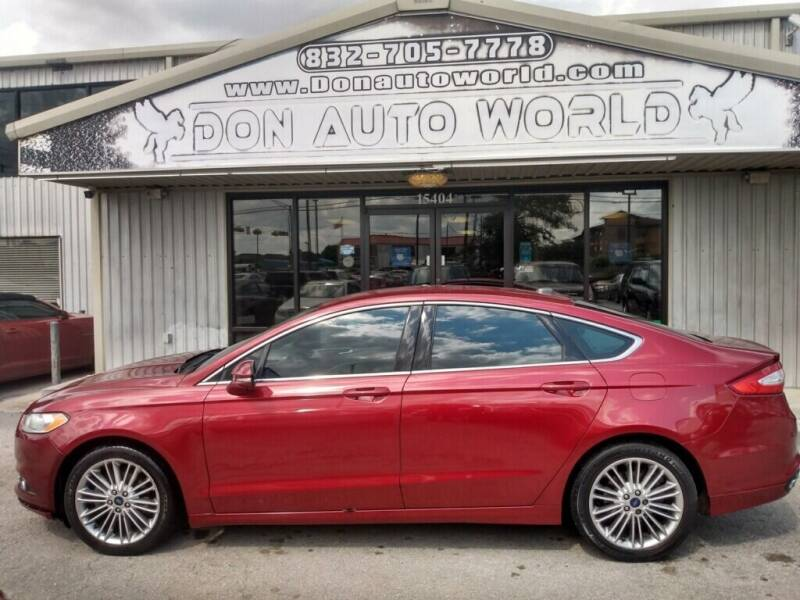 2014 Ford Fusion for sale at Don Auto World in Houston TX