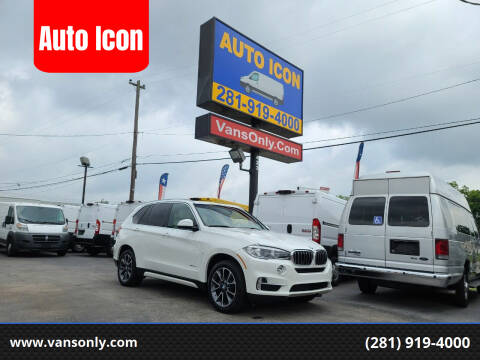 2018 BMW X5 for sale at Auto Icon in Houston TX