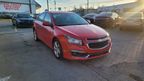 2016 Chevrolet Cruze Limited for sale at Green Ride Inc in Nashville TN