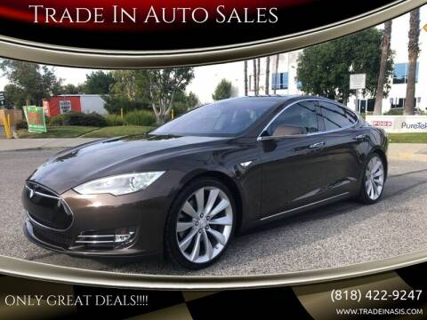 2013 Tesla S for sale at Trade In Auto Sales in Van Nuys CA