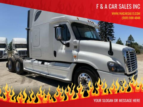 2015 Freightliner Cascadia for sale at F & A Car Sales Inc in Ontario CA