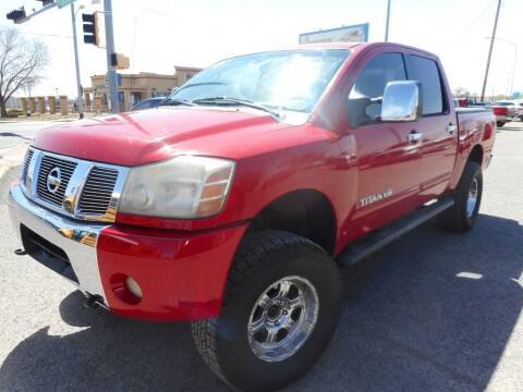 2005 Nissan Titan for sale at AUGE'S SALES AND SERVICE in Belen NM