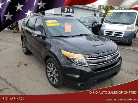 2015 Ford Explorer for sale at D & D Auto Sales Of Onsted in Onsted MI