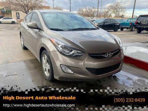 2012 Hyundai Elantra for sale at High Desert Auto Wholesale in Albuquerque NM