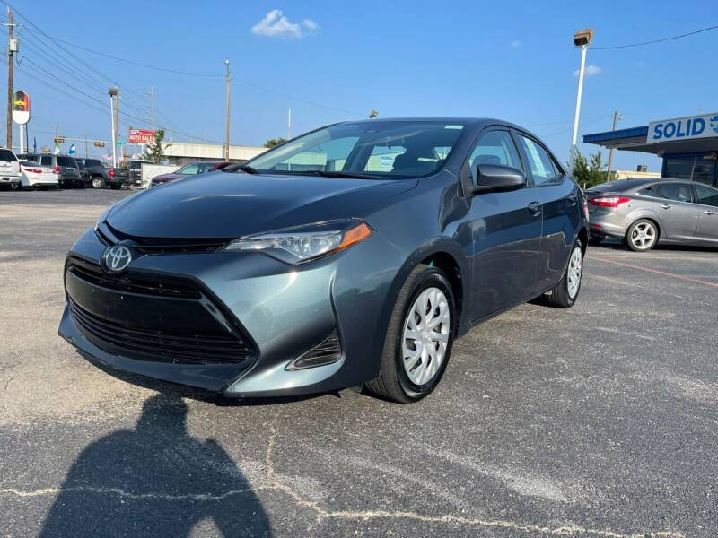 2019 Toyota Corolla for sale at SOLID MOTORS LLC in Garland TX