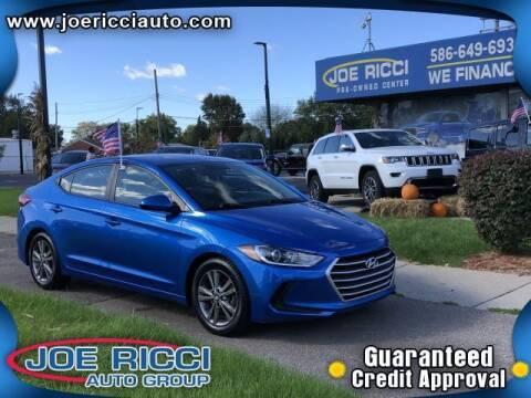 2018 Hyundai Elantra for sale at JOE RICCI AUTOMOTIVE in Clinton Township MI