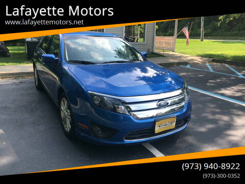 2012 Ford Fusion for sale at Lafayette Motors 2 in Andover NJ
