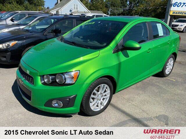2015 Chevrolet Sonic for sale at Warren Auto Sales in Oxford NY