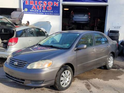 2003 Toyota Corolla for sale at Ericson Auto in Ankeny IA