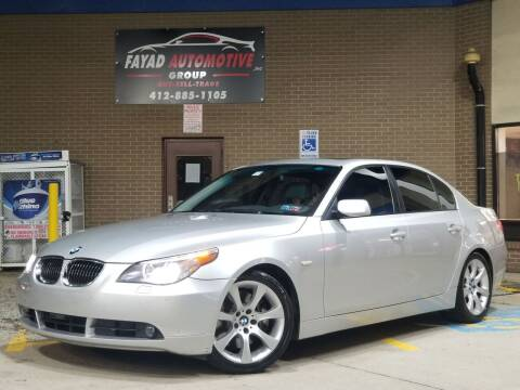 2007 BMW 5 Series for sale at FAYAD AUTOMOTIVE GROUP in Pittsburgh PA