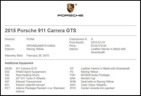 2015 Porsche 911 for sale at RAC Performance in Carrollton TX