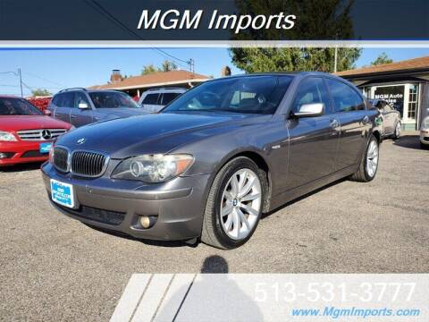 2007 BMW 7 Series for sale at MGM Imports in Cincinnati OH