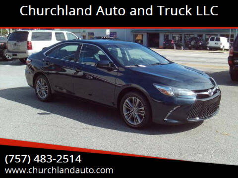 2017 Toyota Camry for sale at Churchland Auto and Truck LLC in Portsmouth VA